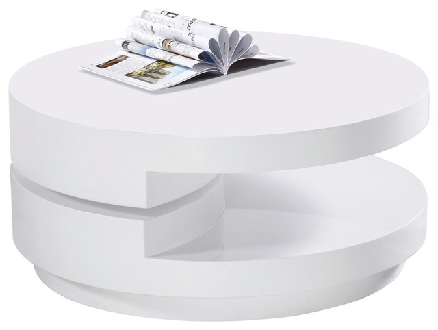Great Favorite Swivel Coffee Tables In High Gloss White Modern Swivel Coffee Table Modern Coffee (View 11 of 50)