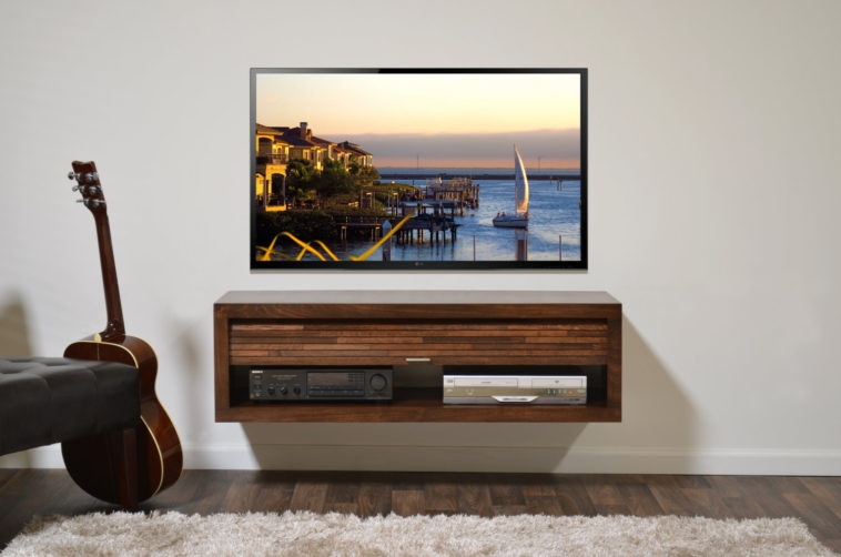 Great Favorite TV Cabinets With Storage Pertaining To Furniture Rectangle Brown Wooden Floating Tv Cabinets With (Image 28 of 50)