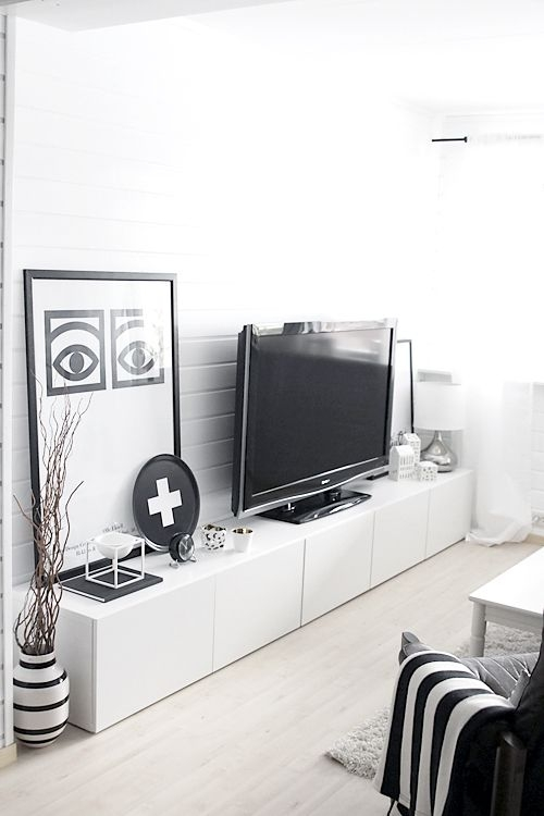 Great Favorite White And Black TV Stands Pertaining To Best 25 Simple Tv Stand Ideas Only On Pinterest Diy Tv Stand (Image 20 of 50)