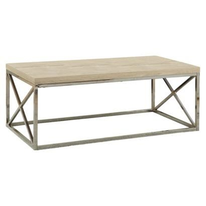 Great Favorite Wood Chrome Coffee Tables Intended For Petrified White Wood Rectangle Coffee Table (Image 24 of 40)