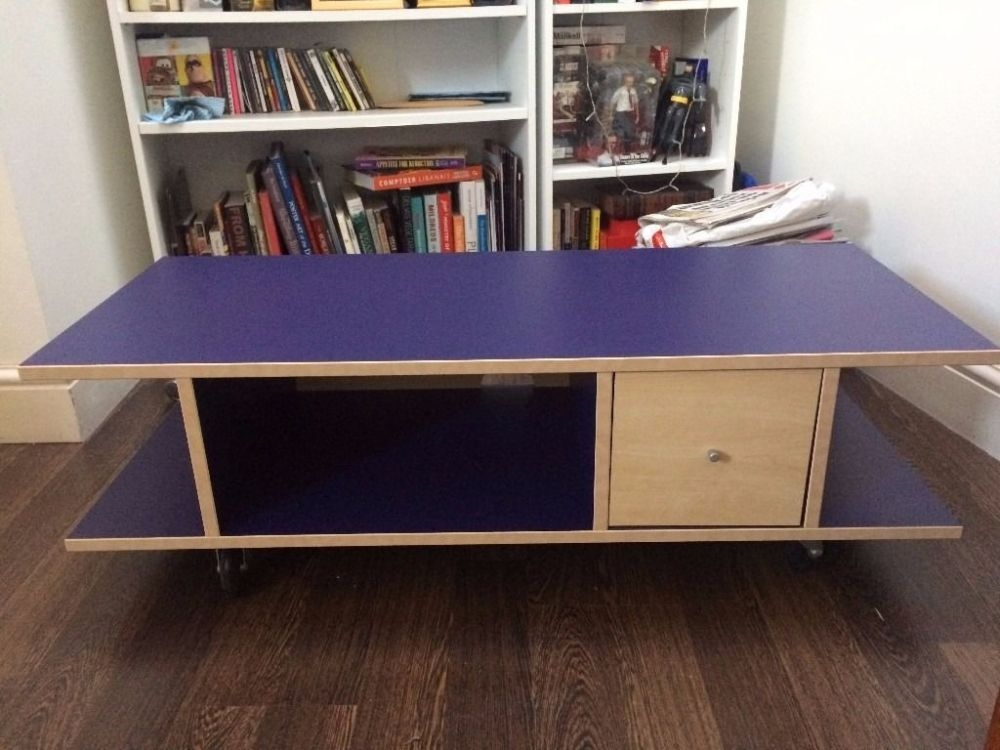 Great High Quality Blue TV Stands With Blue Tv Stand Wood Home Design Ideas (View 27 of 50)
