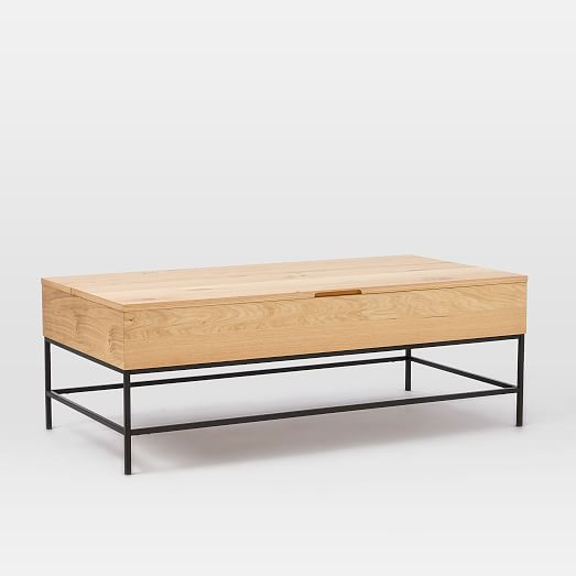 Great High Quality Coffee Tables With Raisable Top In Industrial Storage Coffee Table West Elm (View 30 of 50)