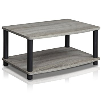 Great High Quality Elevated TV Stands Throughout Amazon Furinno 13191gywbk Turn N Tube No Tools 2 Tier (View 33 of 50)