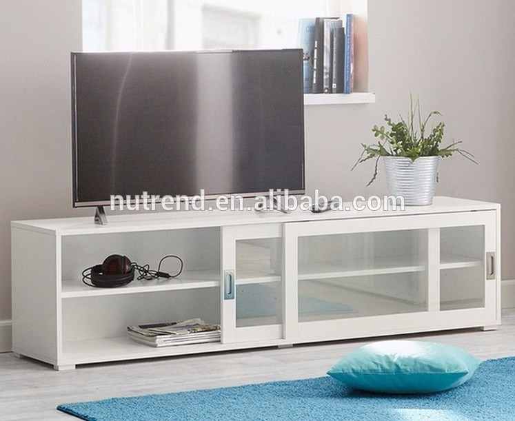 Great High Quality Glass TV Cabinets With Doors Inside Wooden Modern Tv Cabinet With Glass Sliding Doors Showcase Design (Image 21 of 50)
