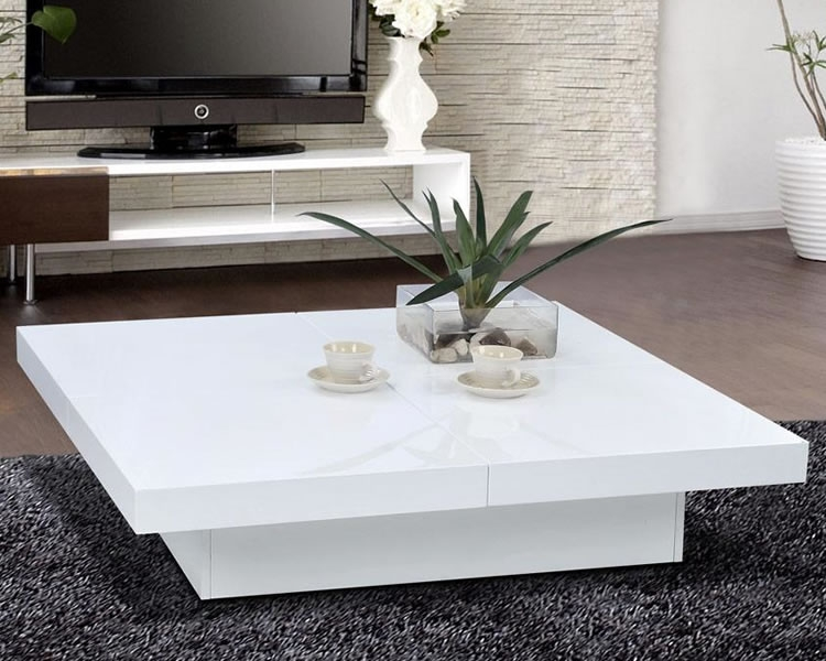 Great High Quality Large Low White Coffee Tables For Living Room The Most Low White Modern Coffee Table Contemporary (Image 20 of 50)