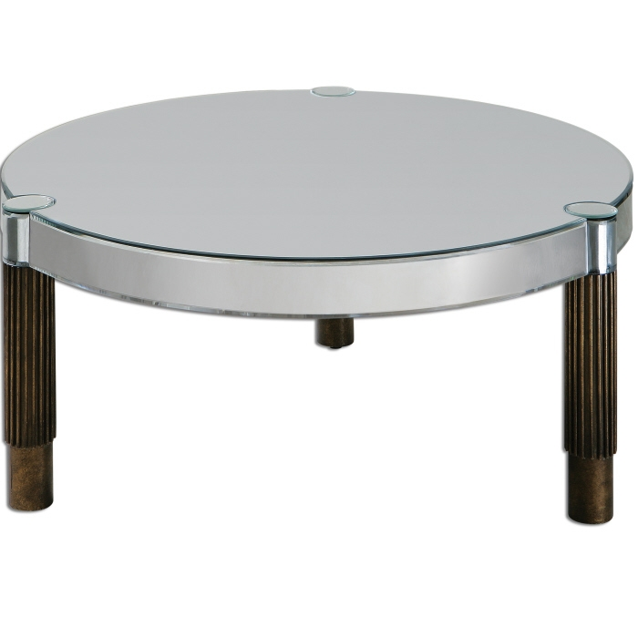 Great High Quality Round Mirrored Coffee Tables Intended For Coffee Table Mirrored Round Coffee Table Ideas Mirrored Coffee (Image 15 of 40)