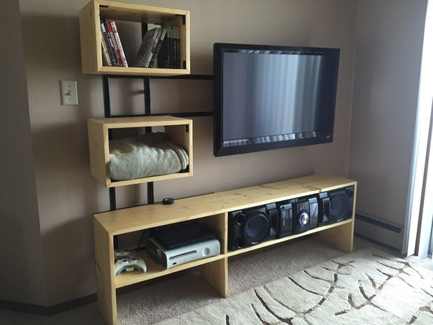 Great High Quality Single Shelf TV Stands Within Floating Tv Stand 7 Steps With Pictures (View 33 of 50)