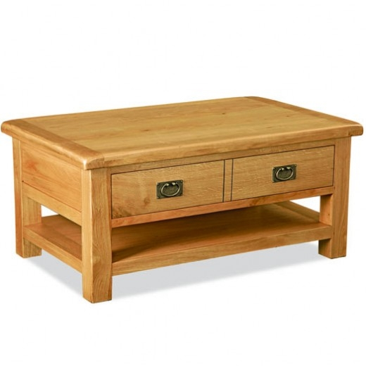 Great High Quality Solid Oak Coffee Tables Inside Clifton Coffee Table K2127 Kustom Solid Oak Bedroom Furniture (View 20 of 50)