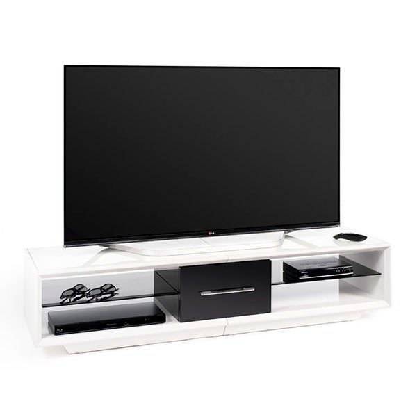 Great High Quality Techlink Arena TV Stands Regarding Techlink Aa150wtb Arena 150 White And Piano Gloss Black Tv Stand (Image 22 of 50)