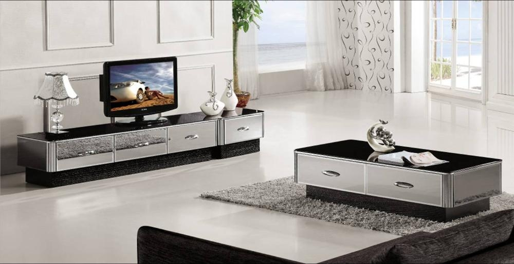 Great High Quality Tv Unit And Coffee Table Sets Throughout Aliexpress Buy Modern Gray Mirror Modern Furniture Coffee (Image 22 of 50)