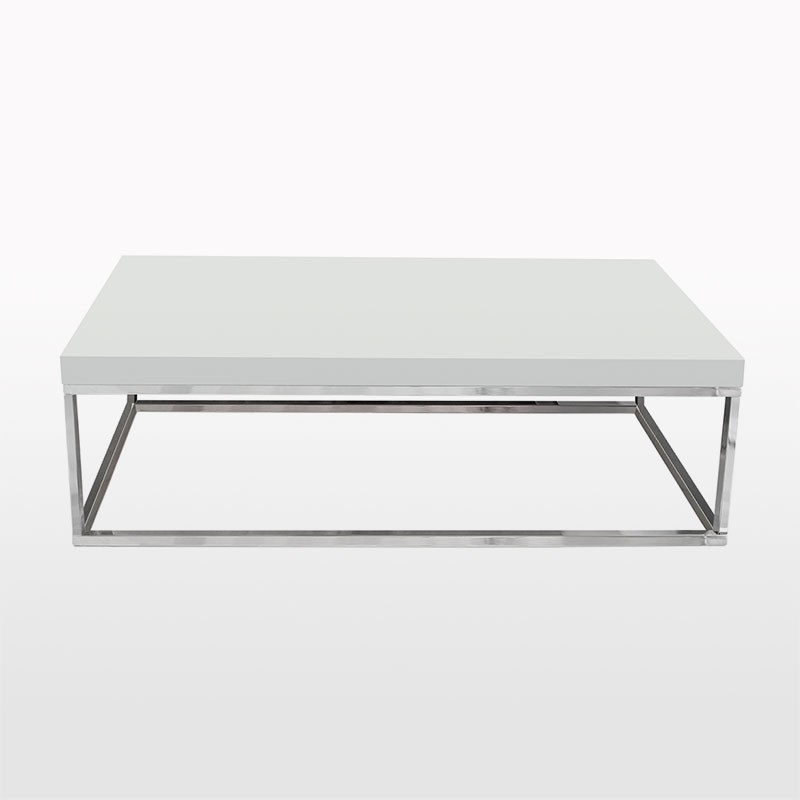 Great High Quality White And Chrome Coffee Tables Regarding Prairie Rectangular Coffee Table Temahome (Photo 20 of 50)