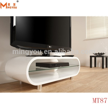 Great High Quality White Oval TV Stands With Regard To High Gloss Wood Oval Shape Tv Stand Buy High Gloss White Tv (Image 23 of 50)