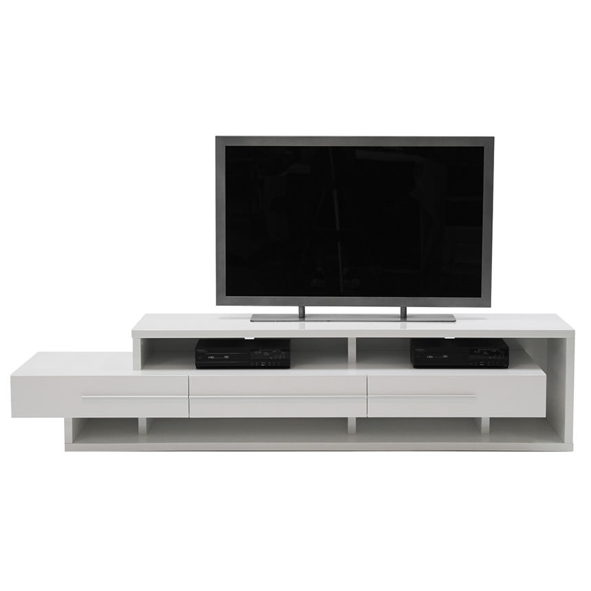 Great High Quality White TV Stands Inside Avanti White Tv Stand El Dorado Furniture (View 36 of 50)