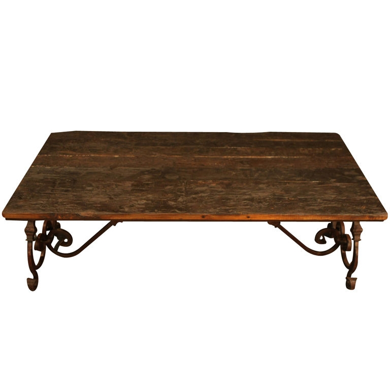 Great High Quality Wrought Iron Coffee Tables Throughout Fantastic Rustic Wood And Iron Coffee Table Beautiful Wood And (Image 25 of 50)