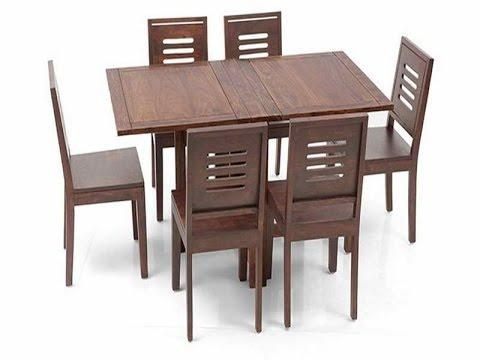 Great Ideas For Collapsible Dining Table – Youtube Inside Wood Folding Dining Tables (Image 14 of 20)
