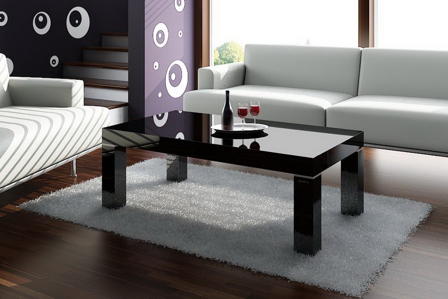 Great Latest Black Glass Coffee Tables  Inside Coffee Table Elegance And Durability In Black Glass Coffee Table (Image 27 of 50)