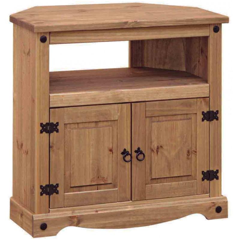 Great Latest Dark Oak Corner TV Cabinets Inside Rustic Dark Wooden Corner Tv Cabinet Unit (Image 24 of 50)