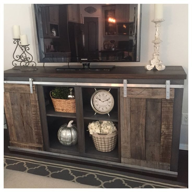 Great Latest Grey TV Stands Regarding Rustic Grey Tv Stand Home Design Ideas (Image 27 of 50)