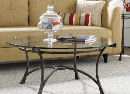 Great Latest Metal Coffee Tables With Glass Top With Round Metal Glass Coffee Table Jerichomafjarproject (Image 24 of 50)