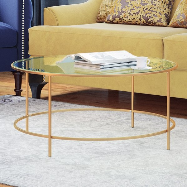 Great Latest Odd Shaped Coffee Tables Pertaining To Find The Best Round Coffee Tables Wayfair (Image 26 of 50)