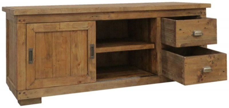 Great Latest Pine TV Cabinets Within Buy Camrose Reclaimed Pine Tv Cabinet Small Online Cfs Uk (Image 18 of 50)