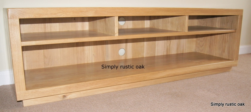 Great Latest Rustic Oak TV Stands Throughout Rustic Oak Tv Stand With Compartments Simply Rustic Oak (View 32 of 50)