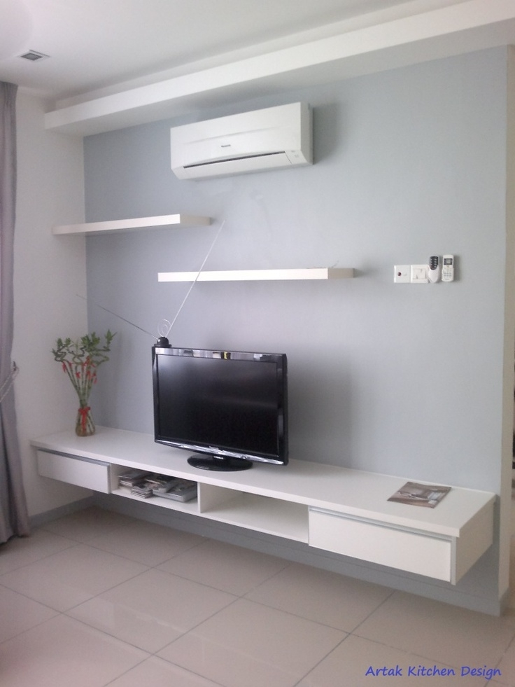 Great Latest White Wood TV Cabinets Intended For Intech Kitchen Sdn Bhd Formerly Artak Kitchen Design Tv (Image 22 of 50)