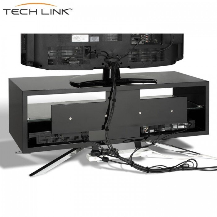 Great New Black TV Stands For Techlink Aa110b Arena Piano Gloss Black Tv Stand  (Image 15 of 50)