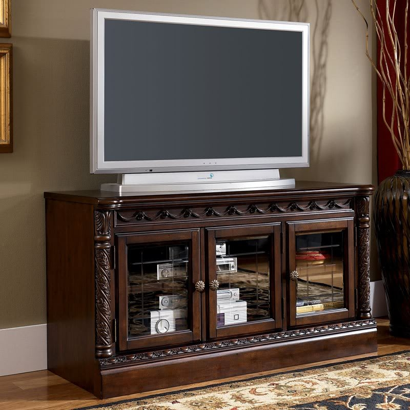 Great New Cherry TV Stands Intended For Barbados 64 Traditional Dark Brown Living Room Tv Stand Console (Image 23 of 50)