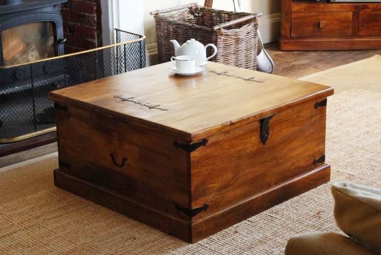Great New Coffee Tables With Box Storage Throughout Coffee Table Glamorous Storage Trunk Coffee Table Rustic Trunk (Image 30 of 50)