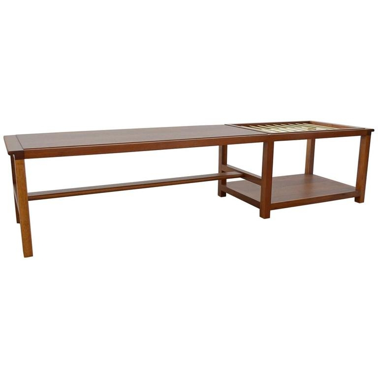 Great New Coffee Tables With Magazine Rack In Walnut And Brass Coffee Table With Magazine Rack Dunbar For (View 45 of 50)