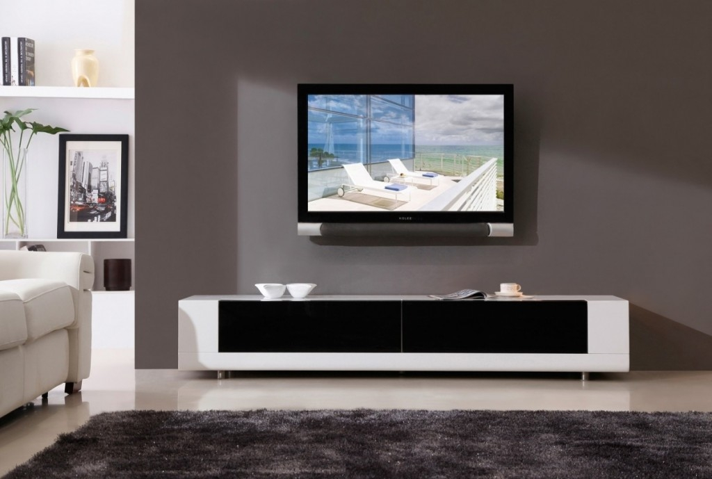 Great New Cream Gloss TV Stands Intended For Tv Stands Cheap Flat Screen Tv Stands Modern Design Wonderful (View 46 of 50)