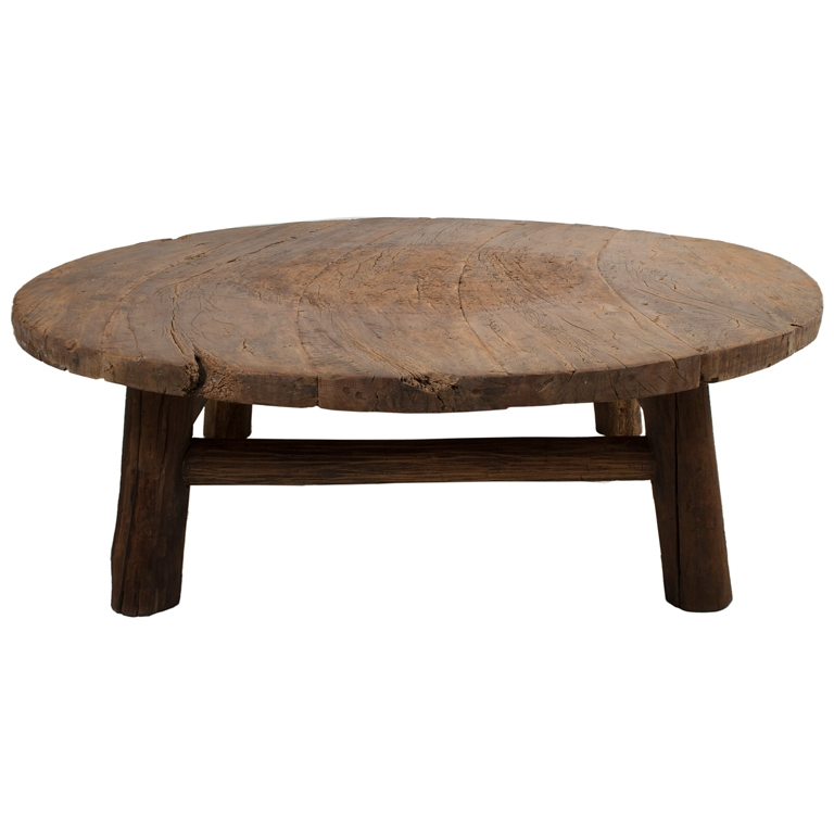 Great New Dark Wood Round Coffee Tables Pertaining To Living Room Top Perfect Round Rustic Coffee Table Diy Pertaining (View 22 of 50)