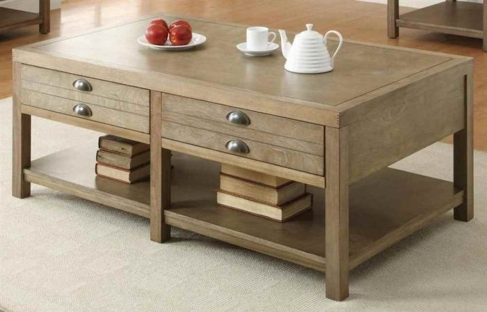Great New Light Oak Coffee Tables With Drawers With Regard To Furniture Surprising Light Oak Coffee Table Designs Enchanting (View 16 of 40)