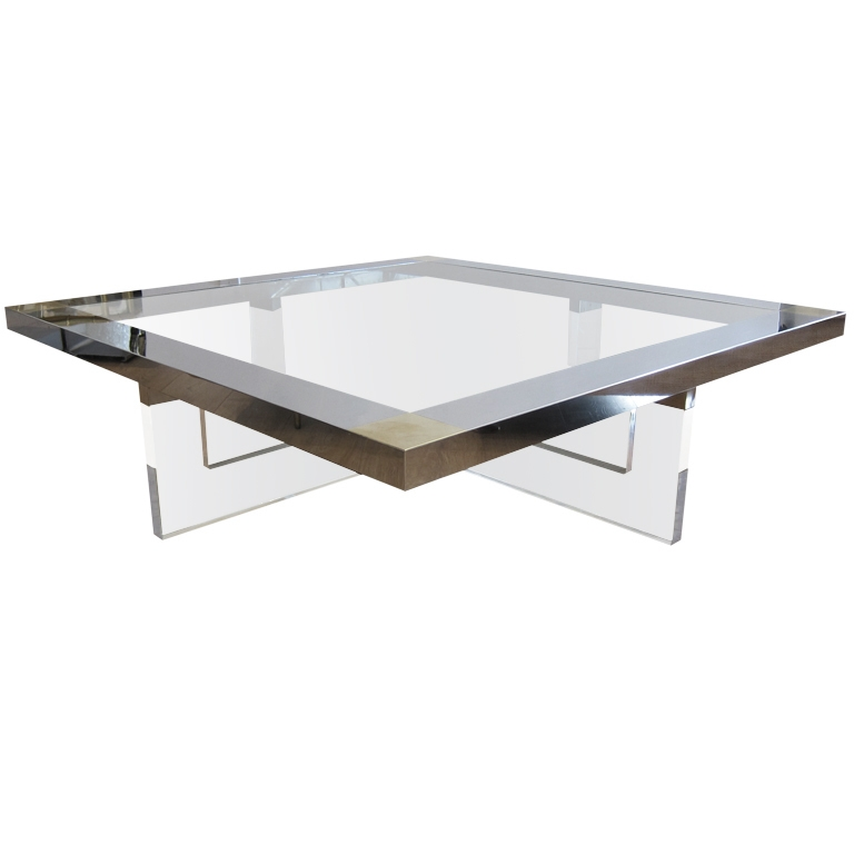 Great New Modern Chrome Coffee Tables Inside Coffee Table Antique Chrome Coffee Table Legs White And Chrome (View 21 of 40)