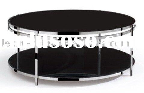 Great New Round Chrome Coffee Tables Within Round Modern Glass Coffee Table Round Modern Glass Coffee Table (Image 20 of 50)