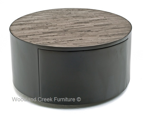 Great New Round Coffee Tables With Drawer With Regard To Round Coffee Table Reclaimed Round Cocktail Custom Sizes (Image 17 of 50)