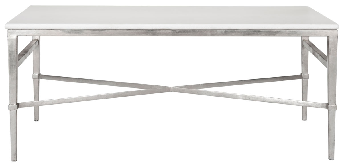 Great New Safavieh Coffee Tables Inside Safavieh Couture Marble Top Metal Coffee Table Safavieh (Image 26 of 50)