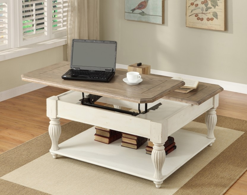 Great New Square Shaped Coffee Tables Inside Square White Coffee Table (View 9 of 50)