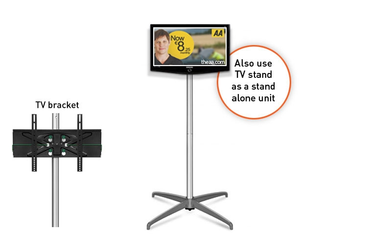Great New Stands Alone TV Stands Throughout 3×4 Curved Popup With Tv Stand 32 To 50 Ral Display (Image 25 of 50)