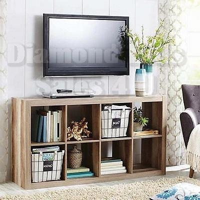 Great New Storage TV Stands Pertaining To 8 Cube Organizer Storage Bookcase Shelf Living Room Tv Stand Wood (Image 24 of 50)
