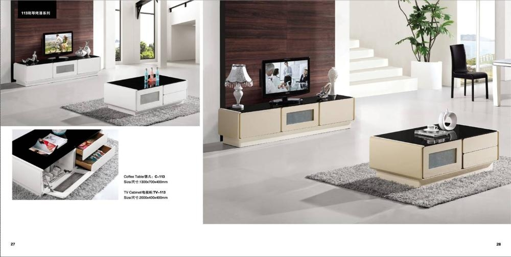 Great New TV Cabinets And Coffee Table Sets In White Beige Furniture Set Living Room Coffee Table And Tv (Image 18 of 50)