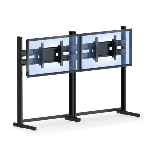 Great Popular Double TV Stands With Regard To Two Tv Stand With Mount Brackets Afcindustries (Image 19 of 50)