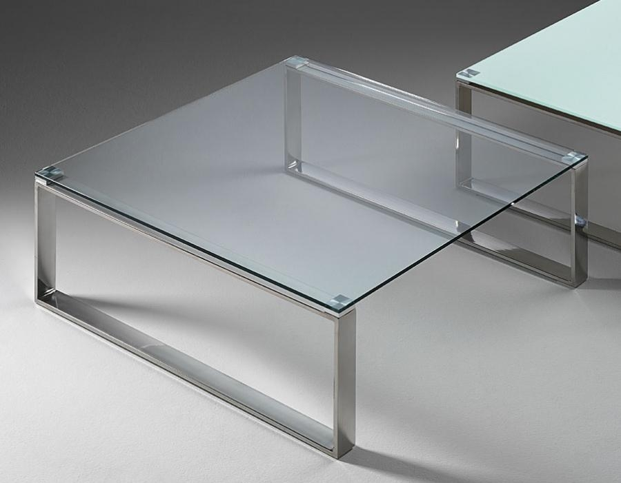 Great Popular Glass Chrome Coffee Tables Pertaining To Square Glass Chrome Coffee Table (Image 20 of 40)