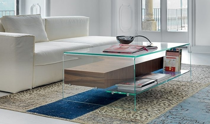 Great Popular Glass Coffee Tables With Storage For Glass Coffee Tables With Storage (Image 18 of 50)