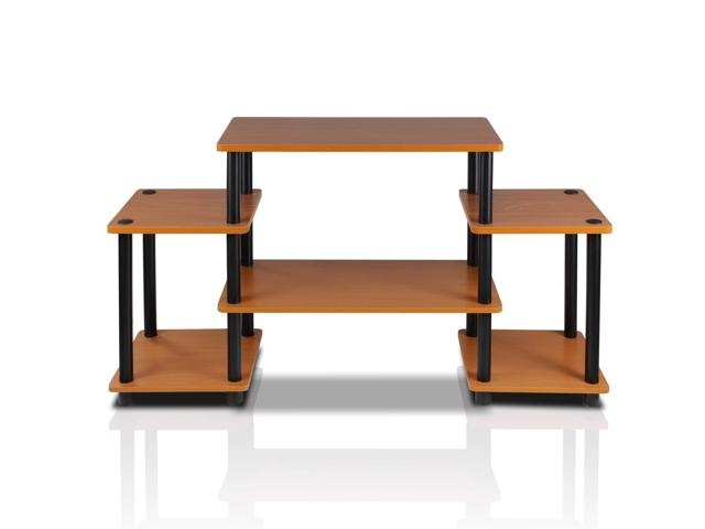 Great Popular Light Cherry TV Stands For Furinno 11257lcbk Turn N Tube No Tool Entertainment Center Tv (Image 29 of 50)