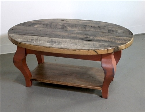 Great Popular Oak Coffee Table With Shelf Within Farmhouse Coffee Tables (Image 23 of 50)