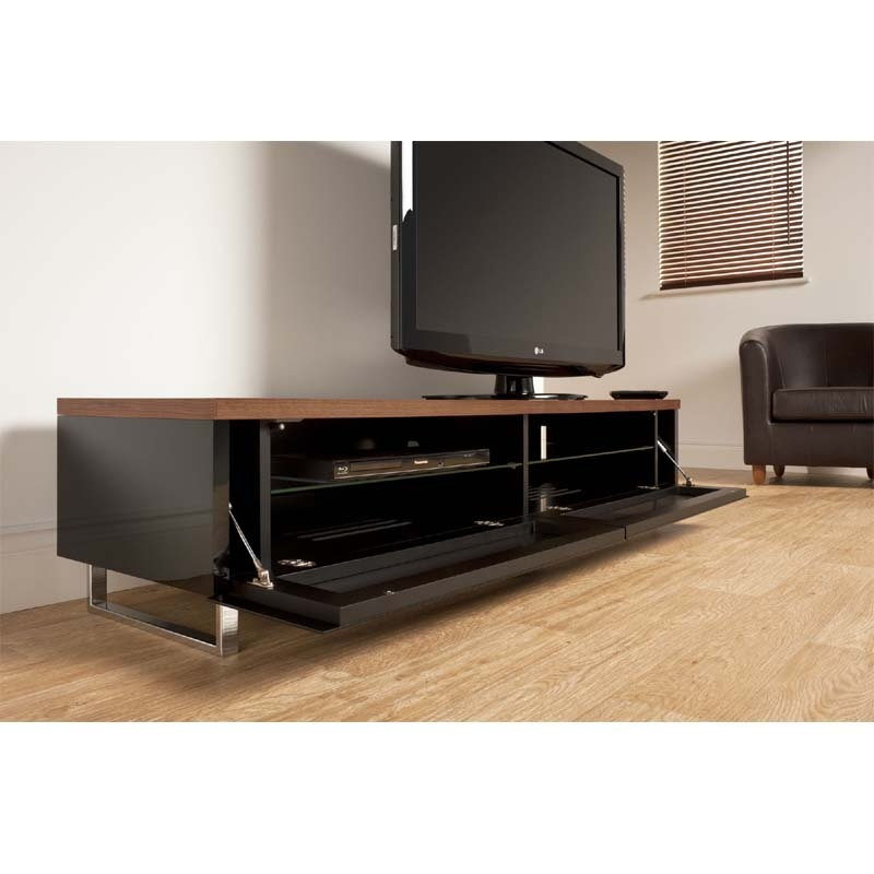 Great Popular Panorama TV Stands Inside Techlink Panorama Series Low 65 Tv Stand With Drop Down Door And (View 1 of 50)