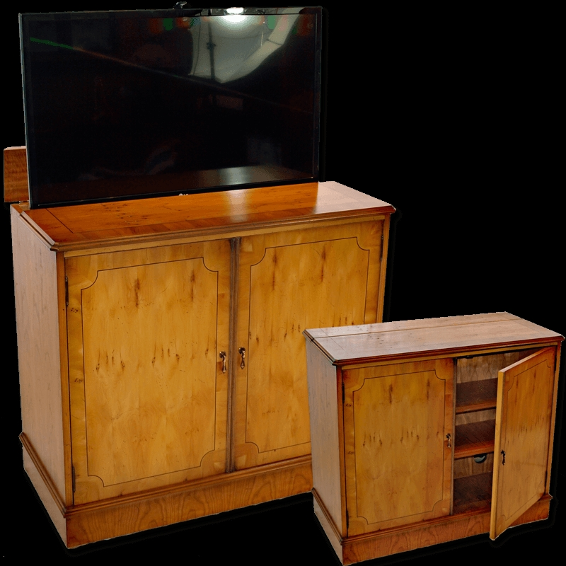 Great Popular Pop Up TV Stands For Burr Walnut Stand With Popup Tv (Image 22 of 50)
