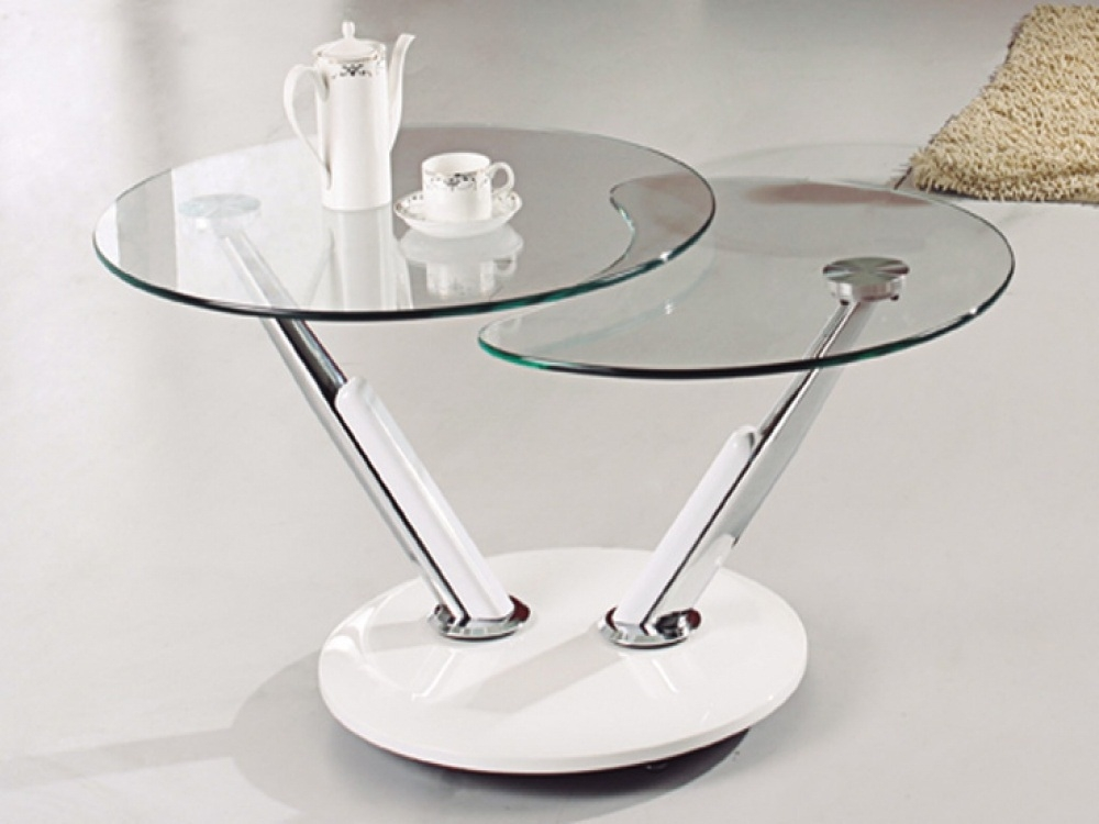 Great Popular Revolving Glass Coffee Tables In Small Glass Coffee Table Modern Table And Estate (Image 20 of 40)